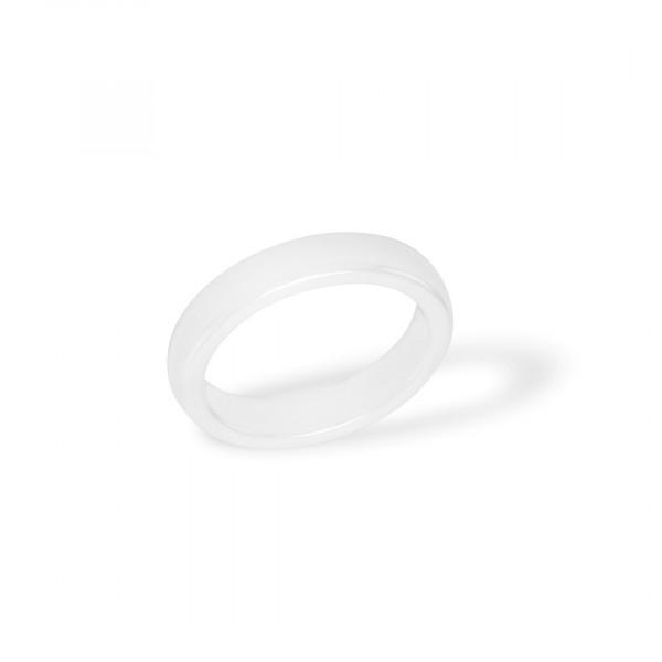 Ceramic ring Plain White