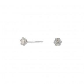Diamond Ear Studs, 0.100 ct, Whitegold