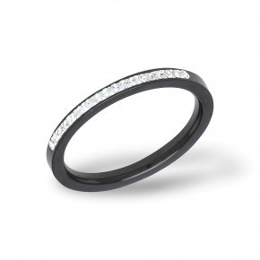 Plain Zirkonia Ring Black