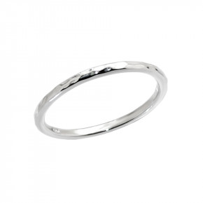 Rock Ring Silver