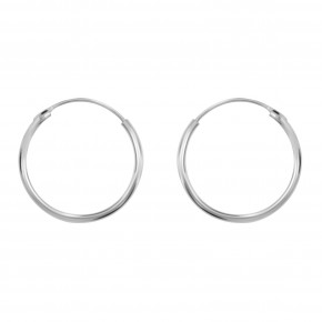 Small Ear Hoop Silver
