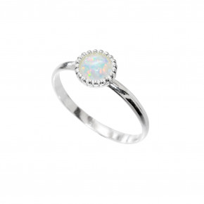 Opal Ring Silver