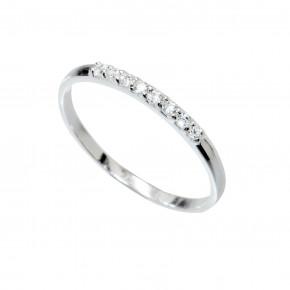 Plain Zirkonia Ring Silver