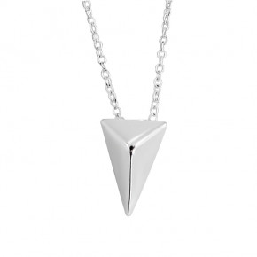 Plain Triangle Necklace Silver
