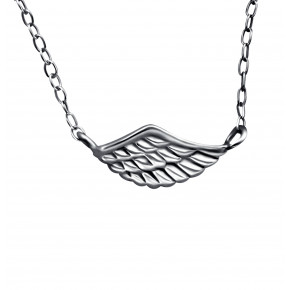 Plain Wing Necklace Black