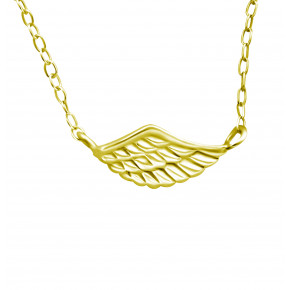 Plain Wing Necklace Gold