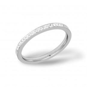 Plain Zirkonia Ring Steel
