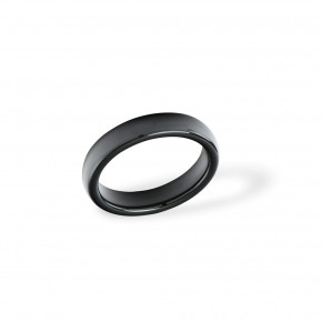 Ceramic Ring Plain Black