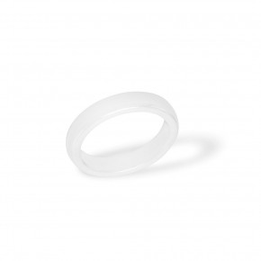 Ceramic Ring Plain White