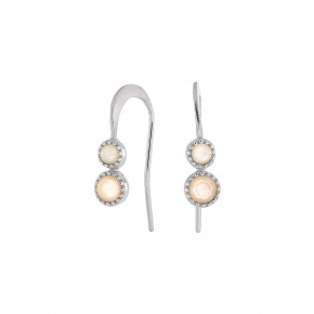 Two Stone Earring Silver