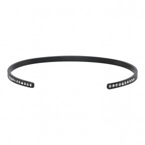 Zirkonia Bangle Black